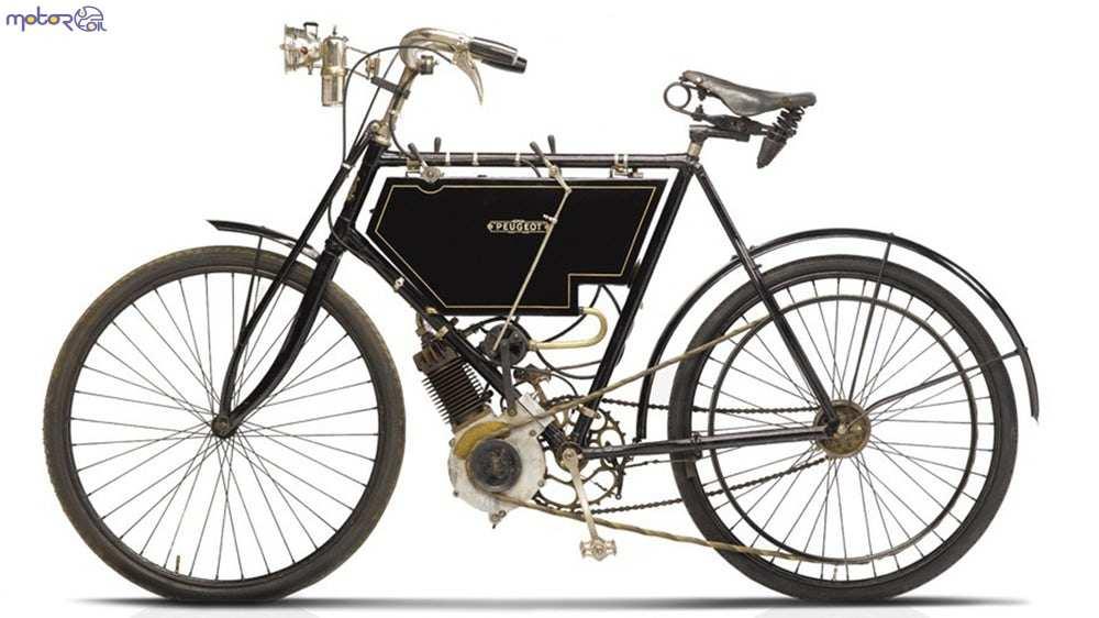 اولین دوچرخه با موتور بنزینی