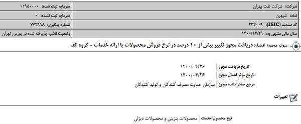 شرکت نفت بهران، تولید کننده روغن های موتور بنزینی و دیزلی در ایران